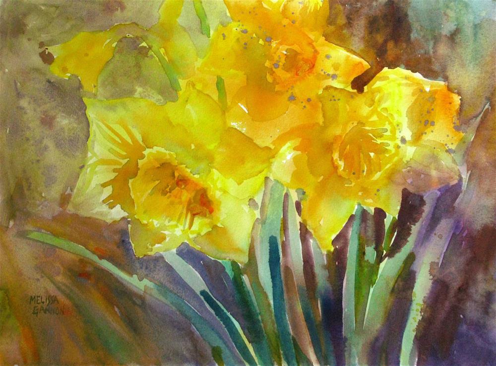 """""""Daffodil Joy"""" original fine art by Melissa Gannon"""