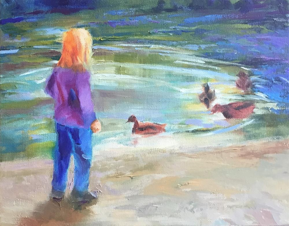 """By the Duck Pond"" original fine art by Charlotte Fitzgerald"