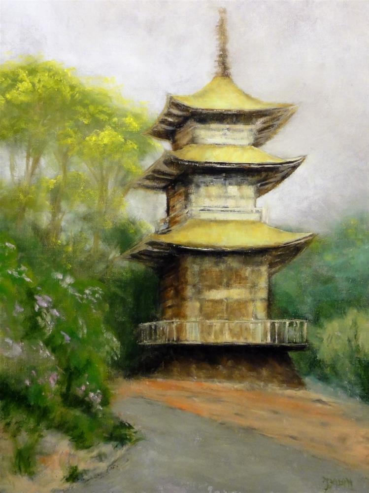 """The Jade Tower II"" original fine art by Dalan Wells"