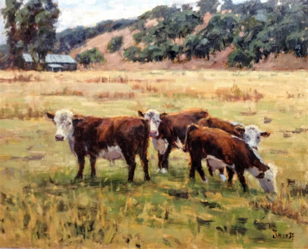 """Curious Cows"" original fine art by Barbie Smith"