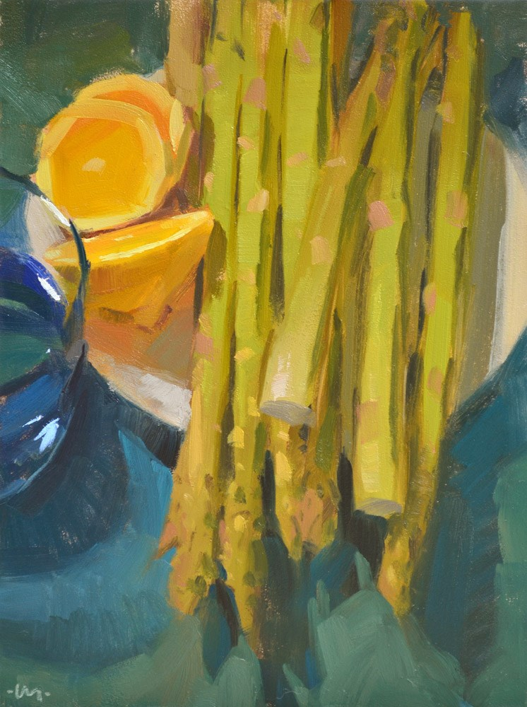 """Grill Me"" original fine art by Carol Marine"