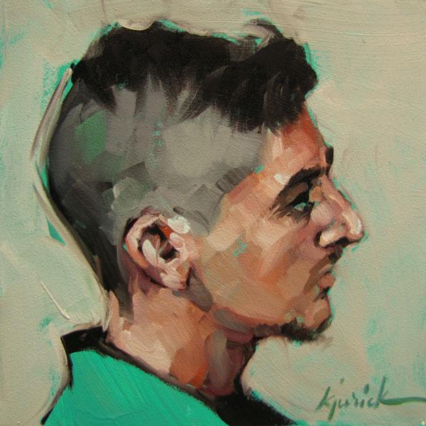 """100 Faces, No. 89"" original fine art by Karin Jurick"