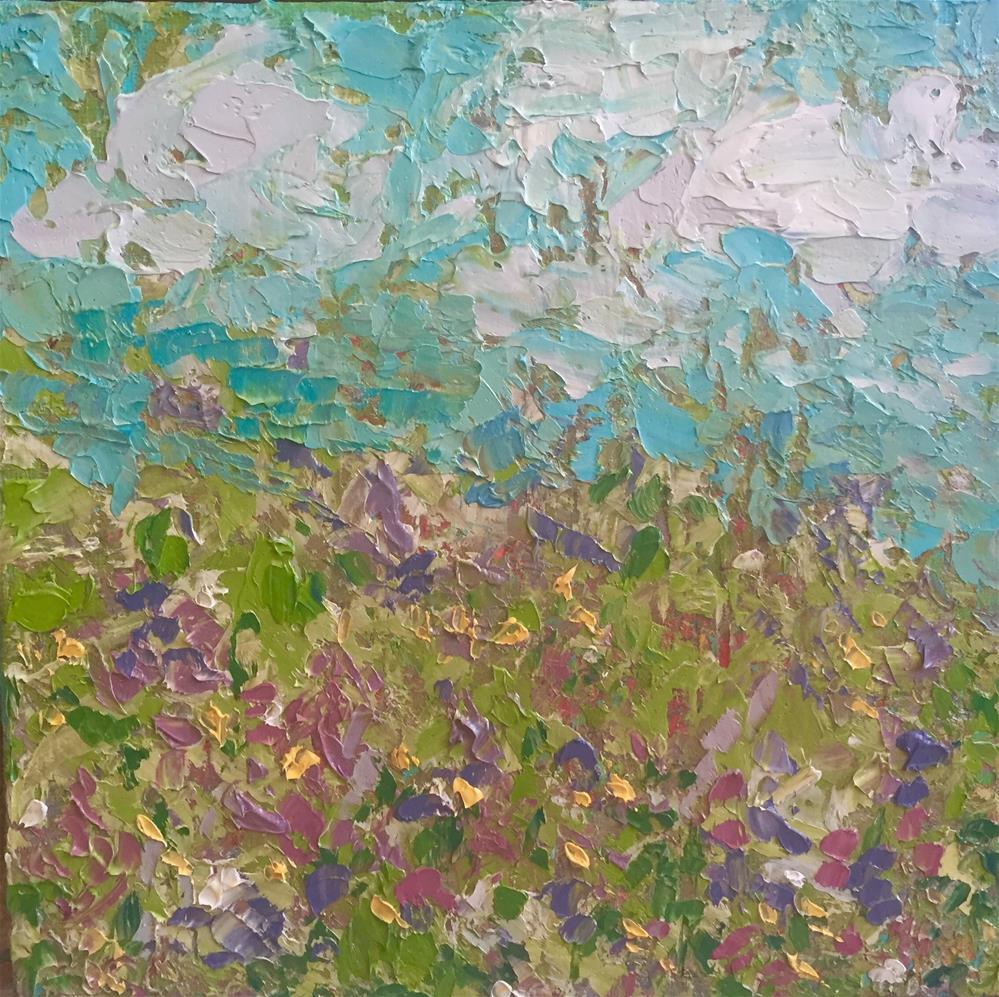 """Wild field"" original fine art by Cheree Apalona Lueck"
