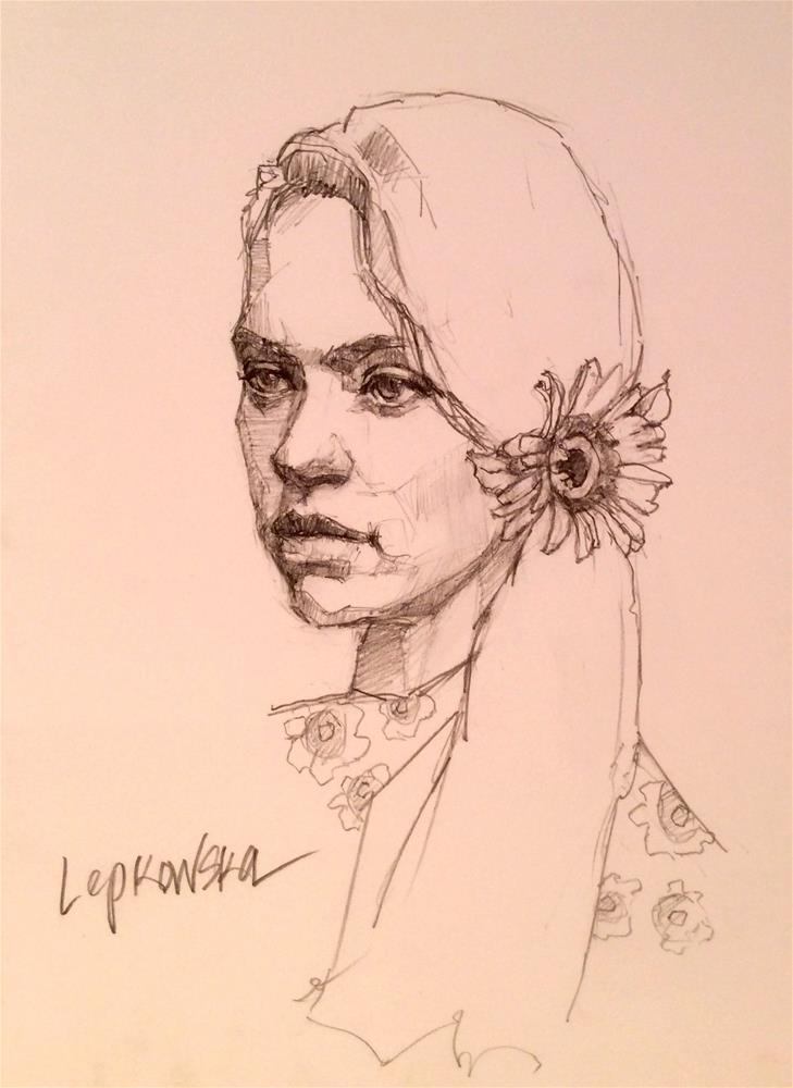 """Reflection"" original fine art by Laurie Johnson Lepkowska"