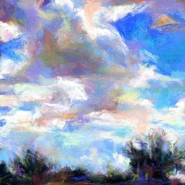 """""""As the cloud travels to a new home!"""" original fine art by Susan Roden"""