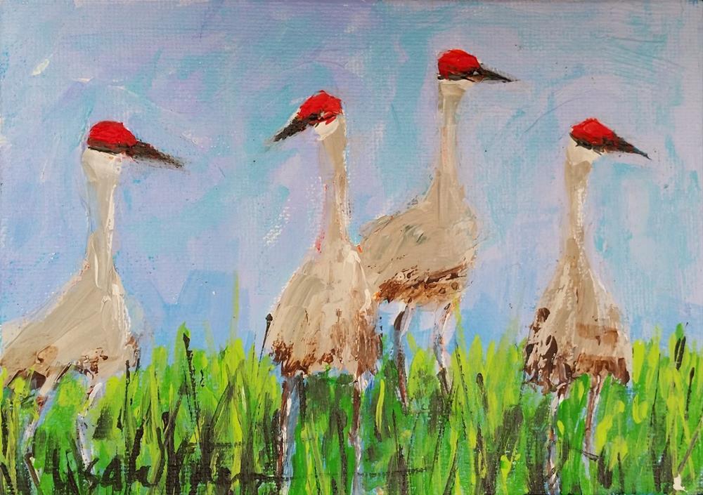 """58 -Walkin' Around"" original fine art by Lisa Rogers"