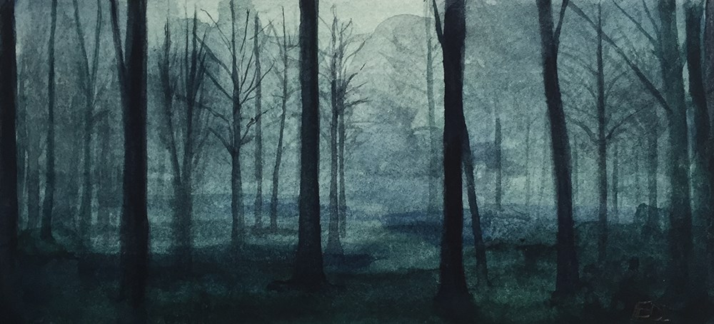"""The Forest"" original fine art by Elizabeth Dawn Johnston"
