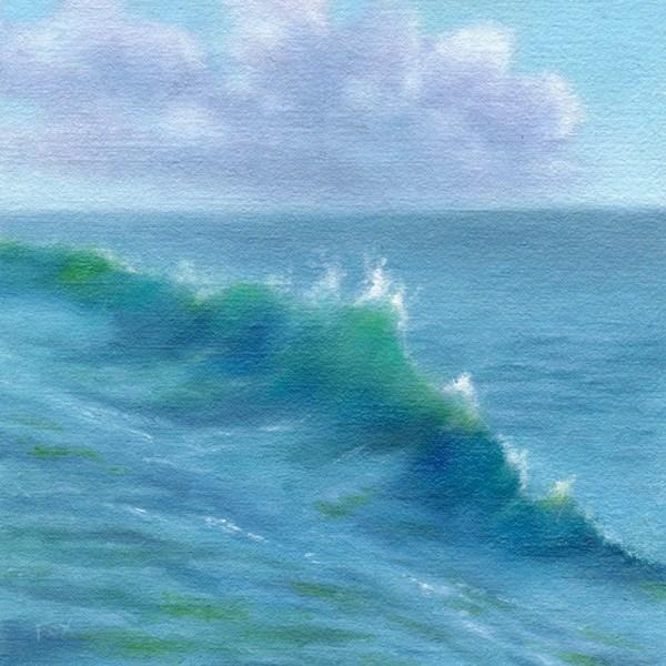"""Wave #2"" original fine art by Barbara Fox"