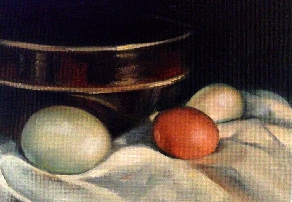 """""""Duck. Duck. Chicken."""" original fine art by Beth Moreau"""