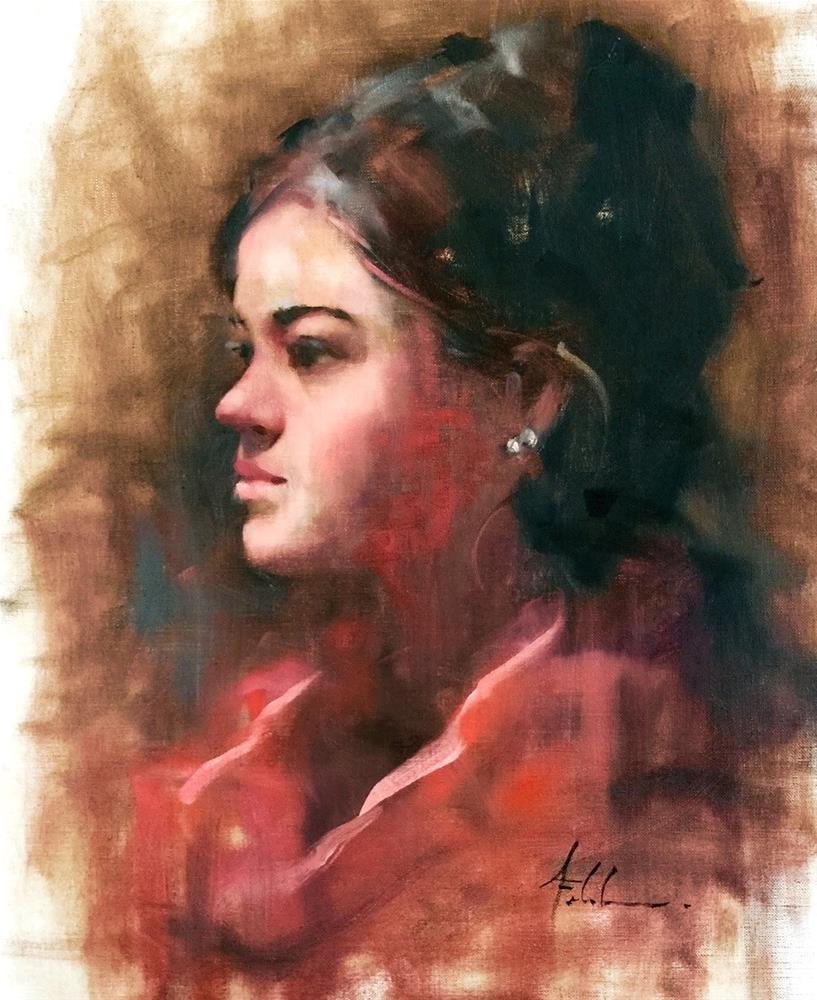 """""""Selena, 16x20"""" original fine art by Ann Feldman"""