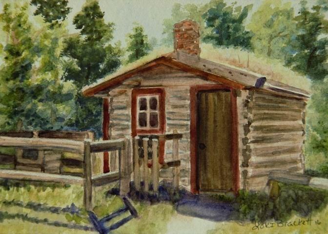"""Starter Home"" original fine art by Lori Brackett"