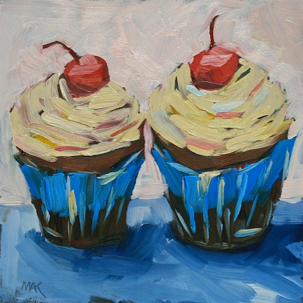 """""""Cupcakes"""" original fine art by Mary Anne Cary"""