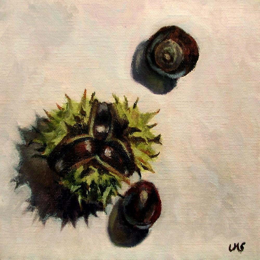 """""""Picked Chestnuts"""" original fine art by Ulrike Miesen-Schuermann"""