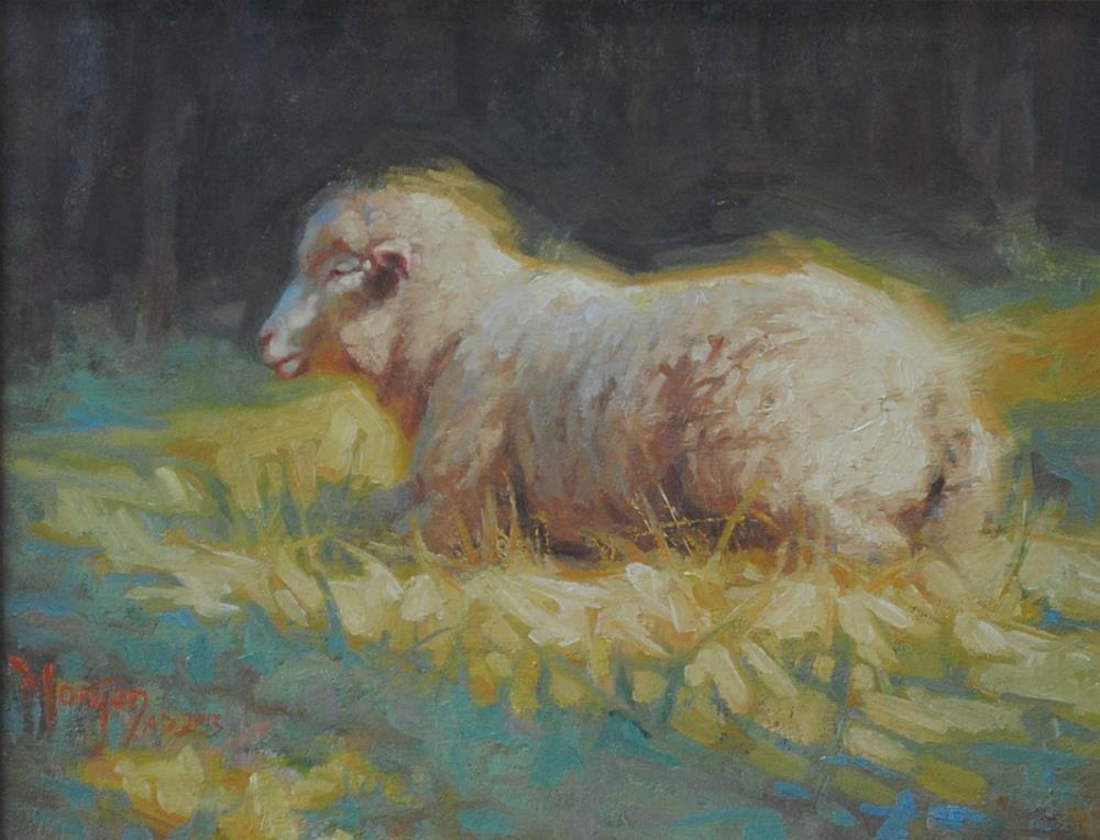"""""""Green Pasture"""" original fine art by Cecile W. Morgan"""