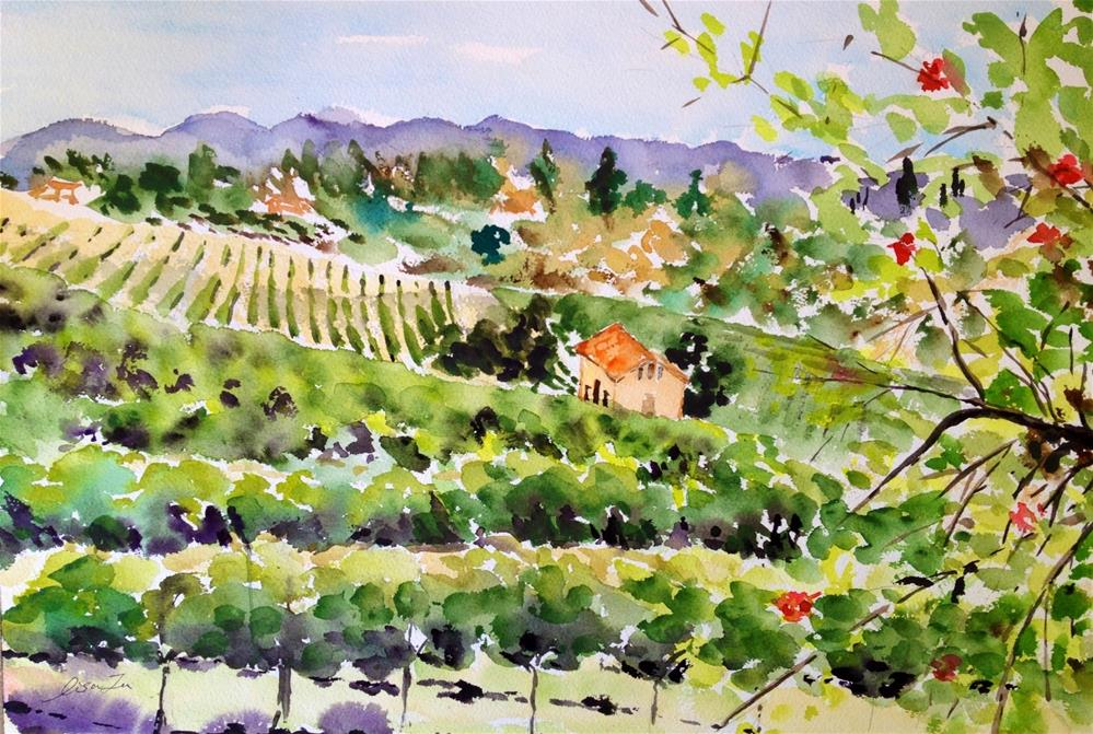 """Temecula Wine Country"" original fine art by Lisa Fu"