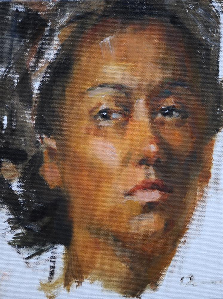 """Head study B"" original fine art by Anny Kong"