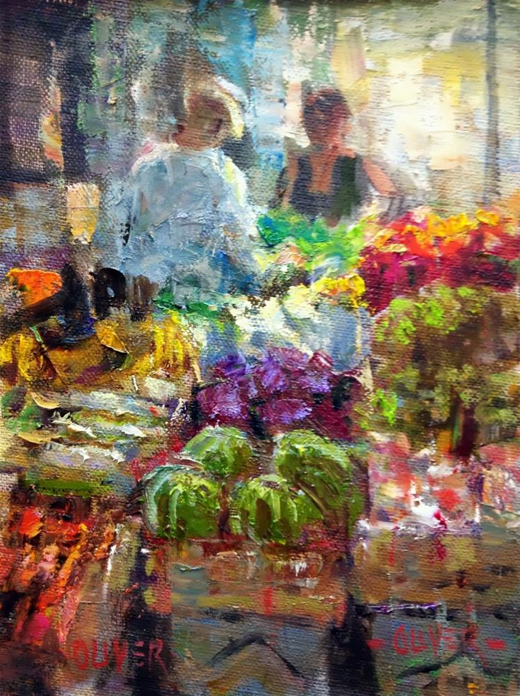 """Farmers Market #2"" original fine art by Julie Ford Oliver"