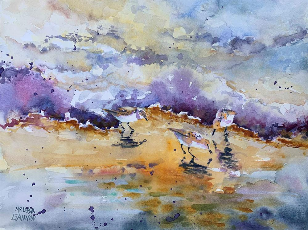 """Beach Pause"" original fine art by Melissa Gannon"