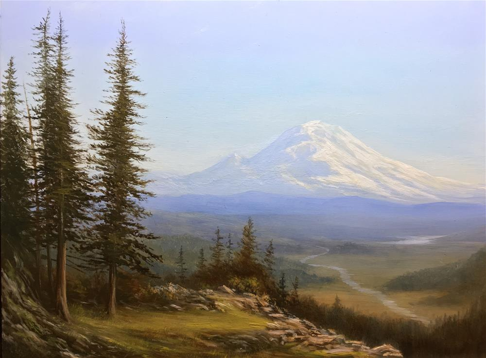 """Mt. Rainier"" original fine art by Frankie Gollub"