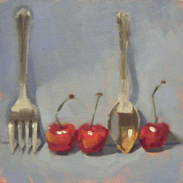 """CHERRY READY"" original fine art by Helen Cooper"