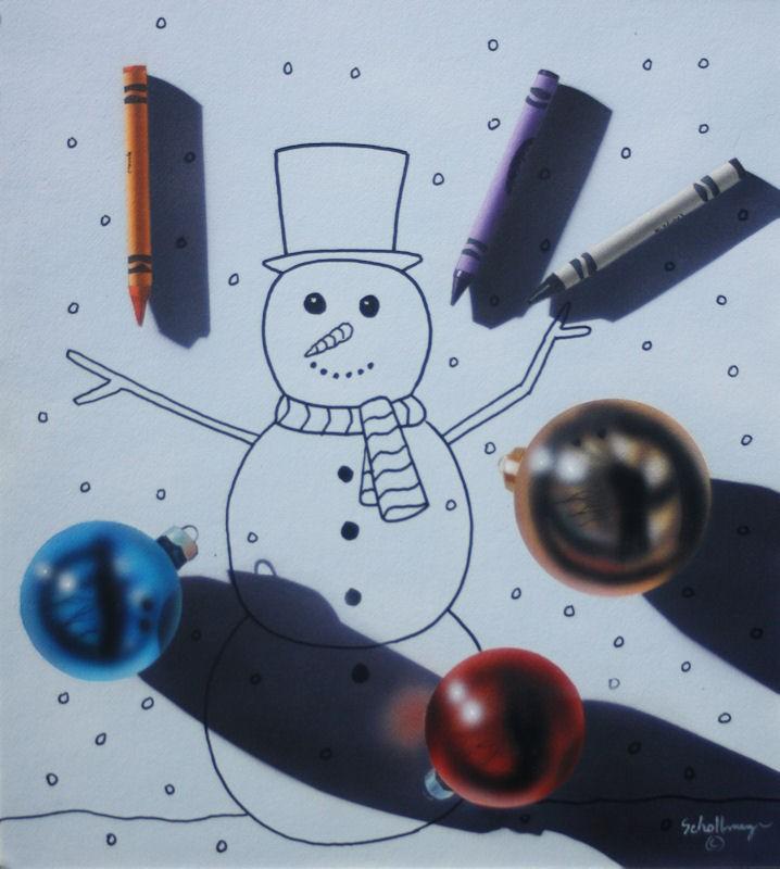 """""""December Fun"""" original fine art by Fred Schollmeyer"""