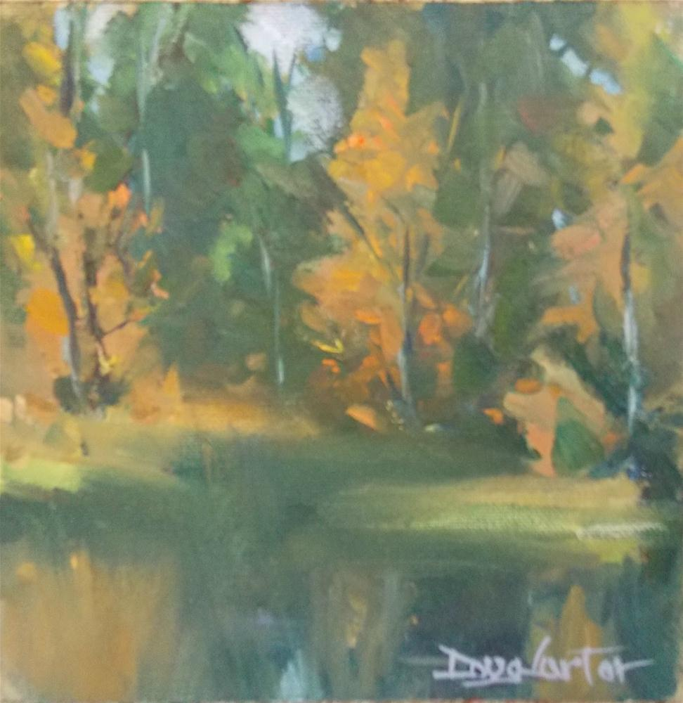 """ FALL AND EVERGREENS "" original fine art by Doug Carter"