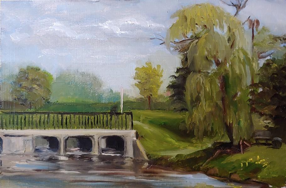 """Willow Off Route 60"" original fine art by Edward Watson"