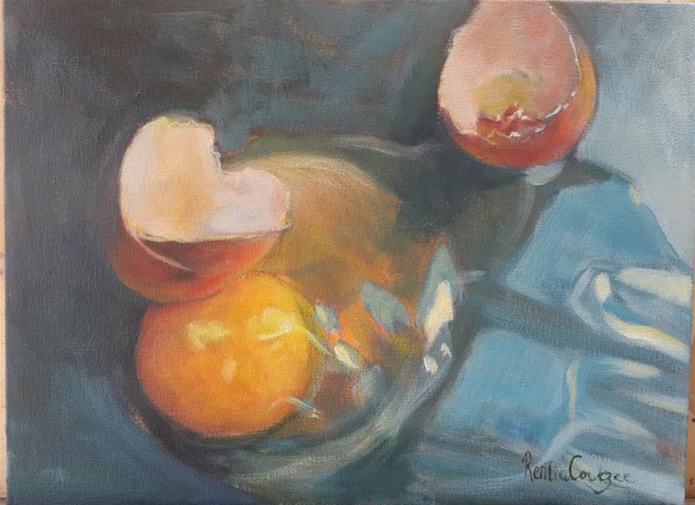 """""""No breakfast today!"""" original fine art by Rentia Coetzee"""