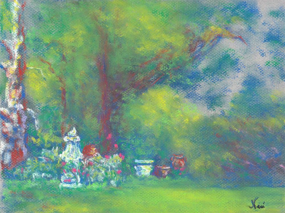"""""""Peaceful Garden"""" original fine art by Niki Hilsabeck"""