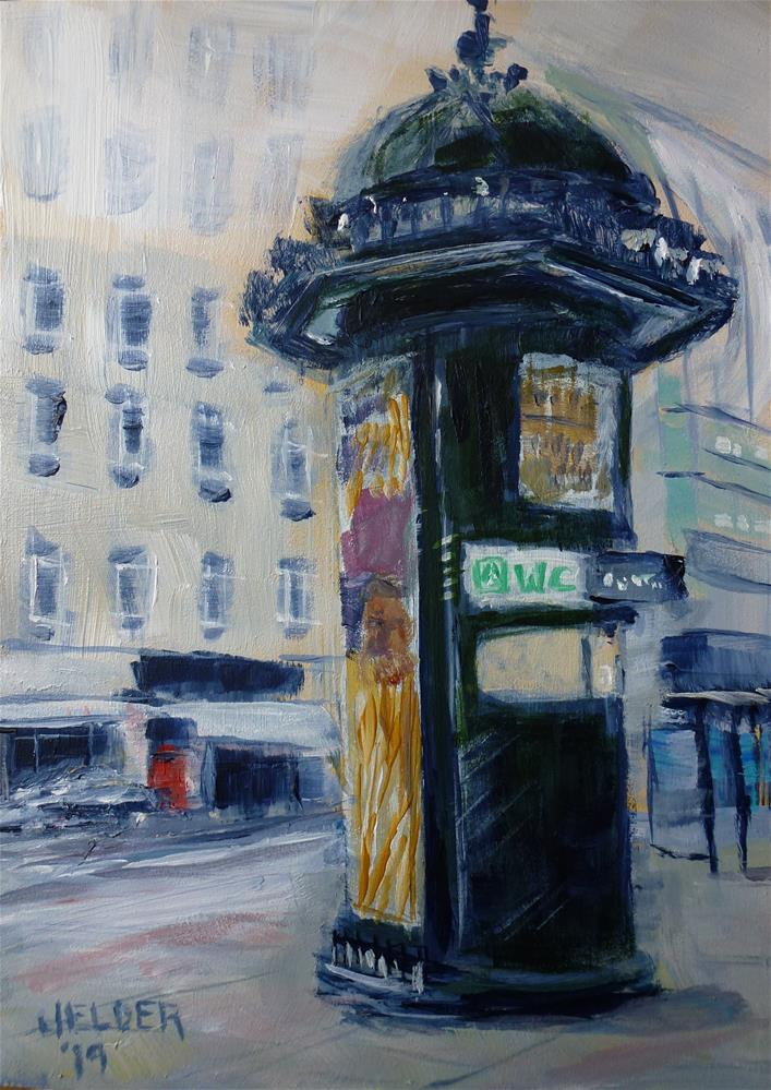 """London No. 14"" original fine art by Judith Elder"
