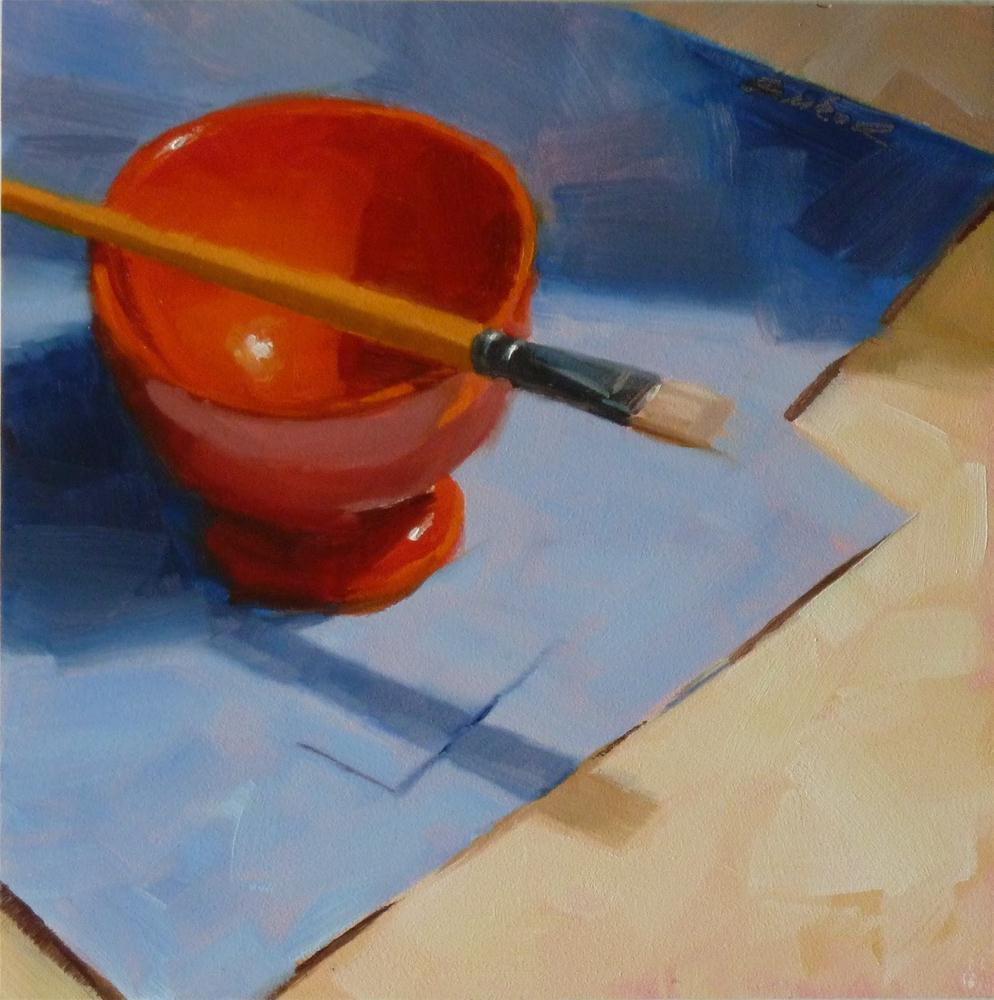 """Red Bowl & Brush"" original fine art by Ron Ferkol"