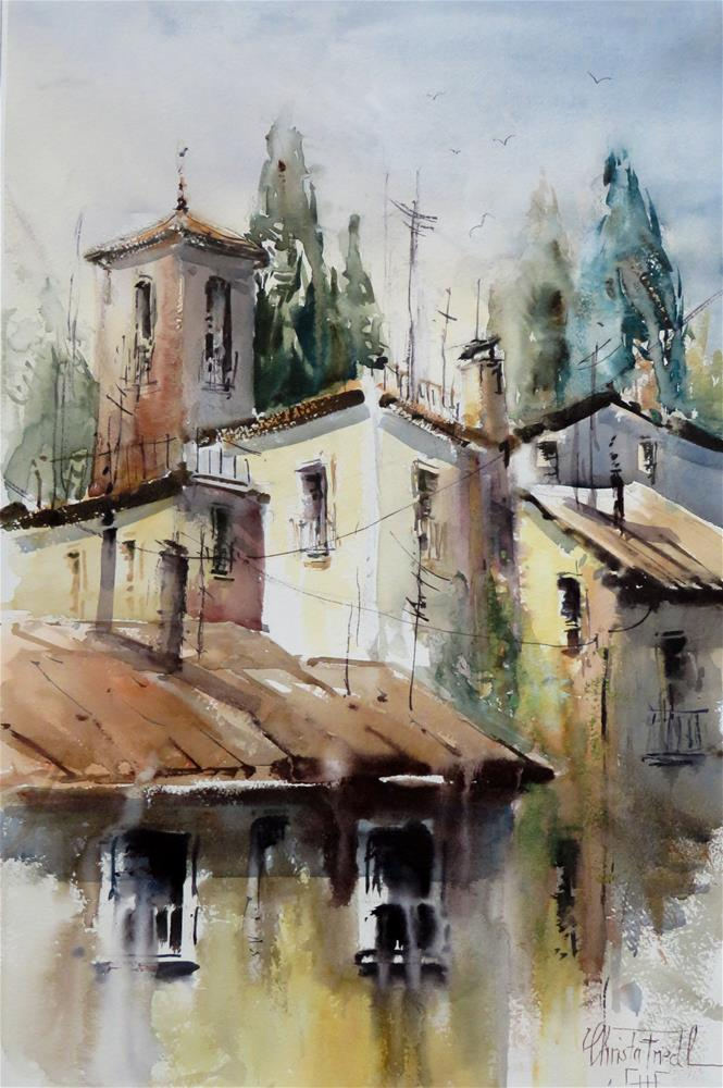 """Rooftops Fabriano - Italy"" original fine art by Christa Friedl"