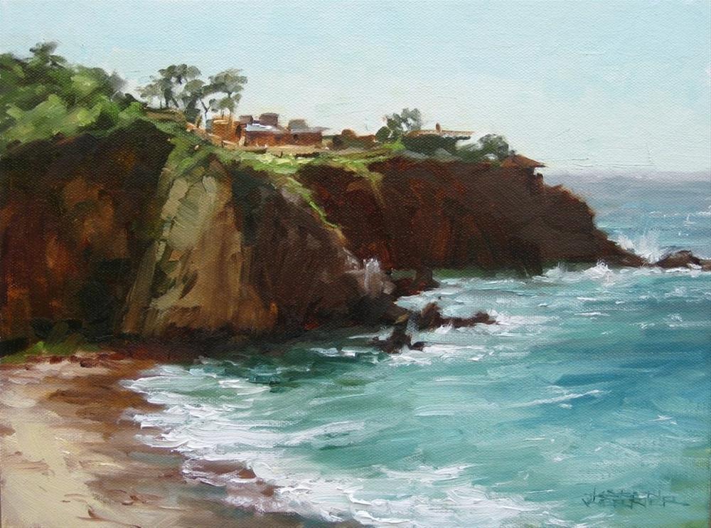 """""""Warm Cliffs"""" original fine art by Karen Werner"""