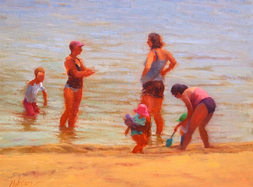 """#61 Beach conversation"" original fine art by Nancy Wallace"