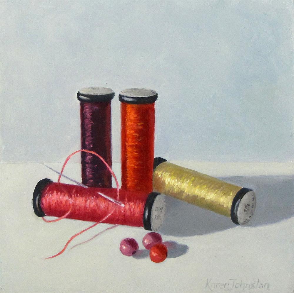 """""""Cotton Colors"""" original fine art by Karen Johnston"""