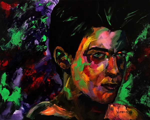 """Mark Adam Webster - Portrait Painting - Bennett 0901"" original fine art by Mark Webster"