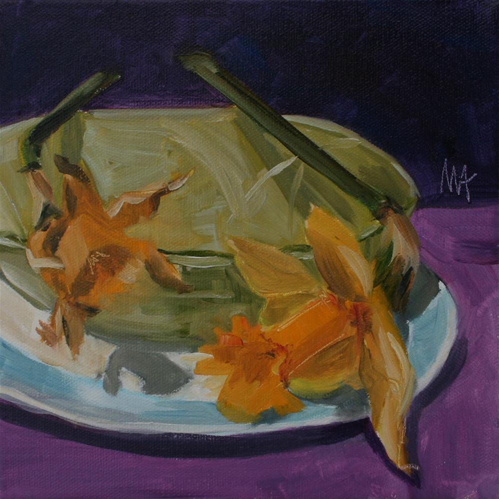 """Two Flowers"" original fine art by Aniko Makay"