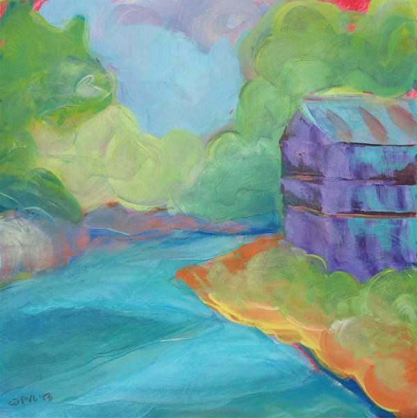 """""""Old Mill Challenge"""" original fine art by Pam Van Londen"""
