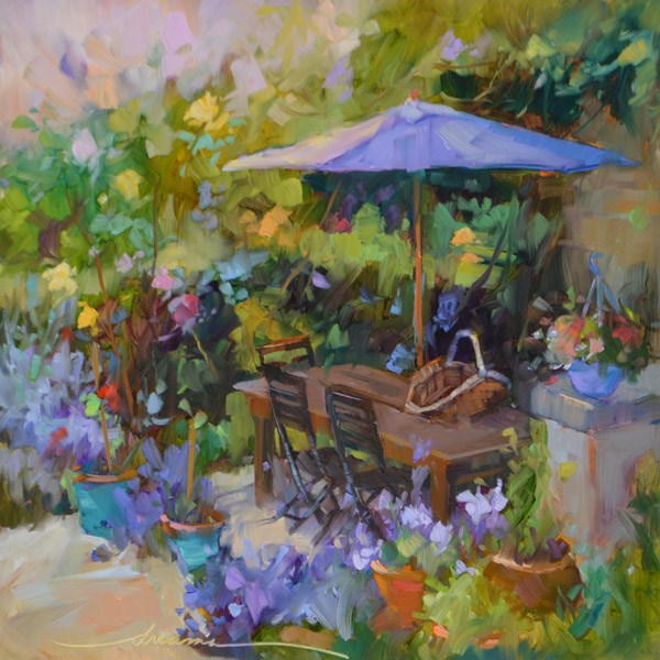 """""""When in France"""" original fine art by Dreama Tolle Perry"""