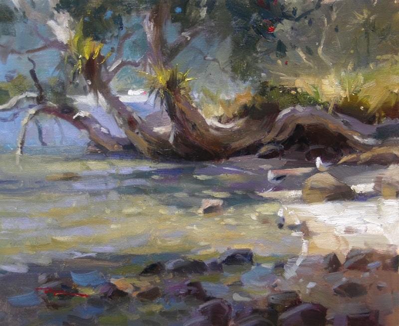 """A Warm Spot"" original fine art by Richard Robinson"
