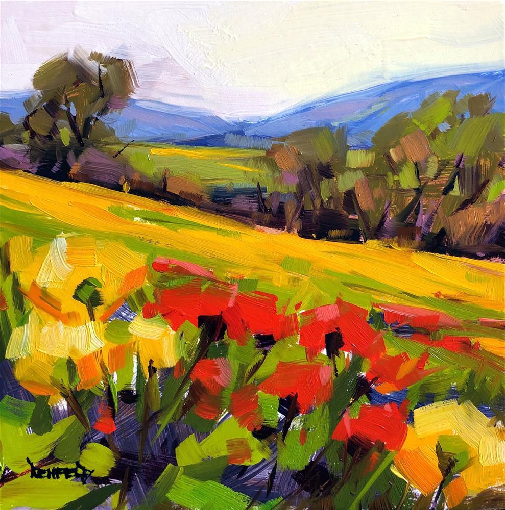 """Wildflowers Of The Gorge"" original fine art by Cathleen Rehfeld"