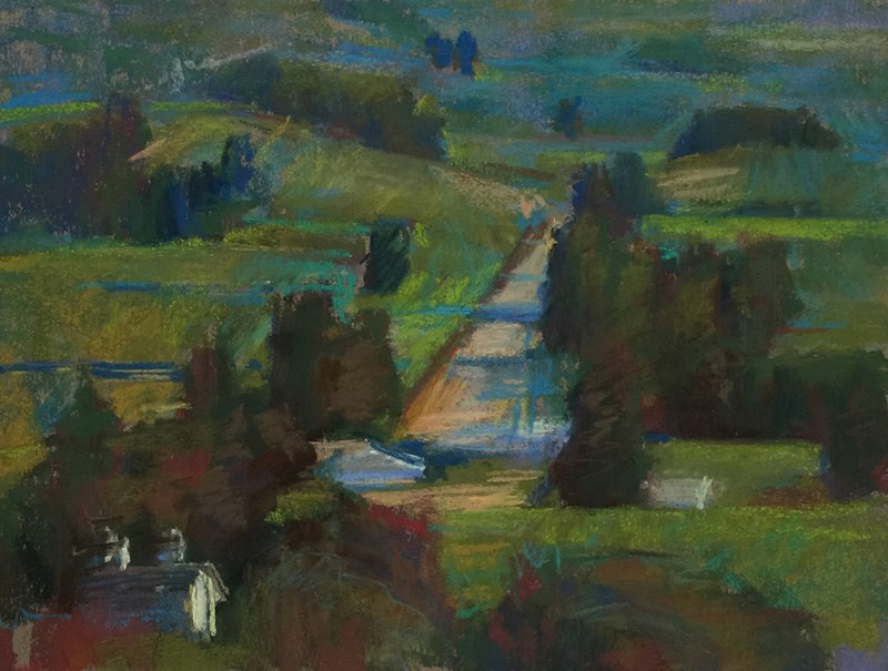 """Hood River Country Road"" original fine art by Patti McNutt"