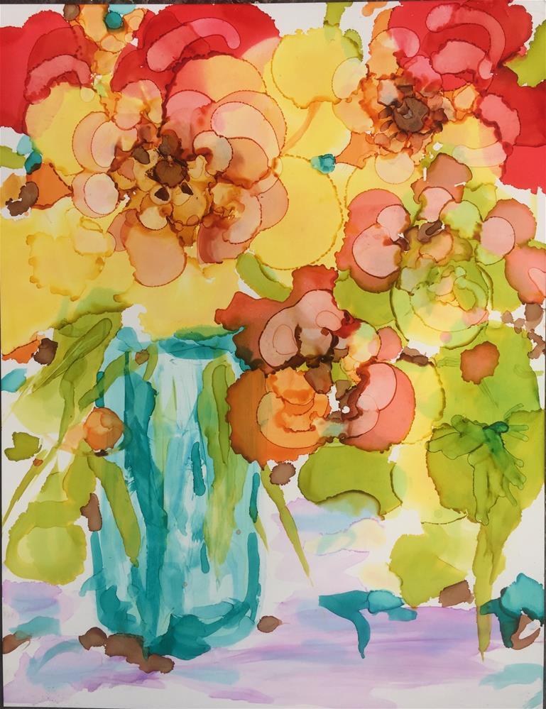 """""""April Bouquet"""" original fine art by Kelly Alge"""
