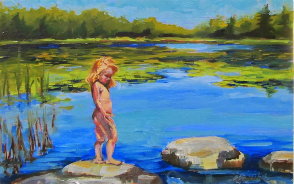 """Skinny Dippin'"" original fine art by Christine Holzschuh"