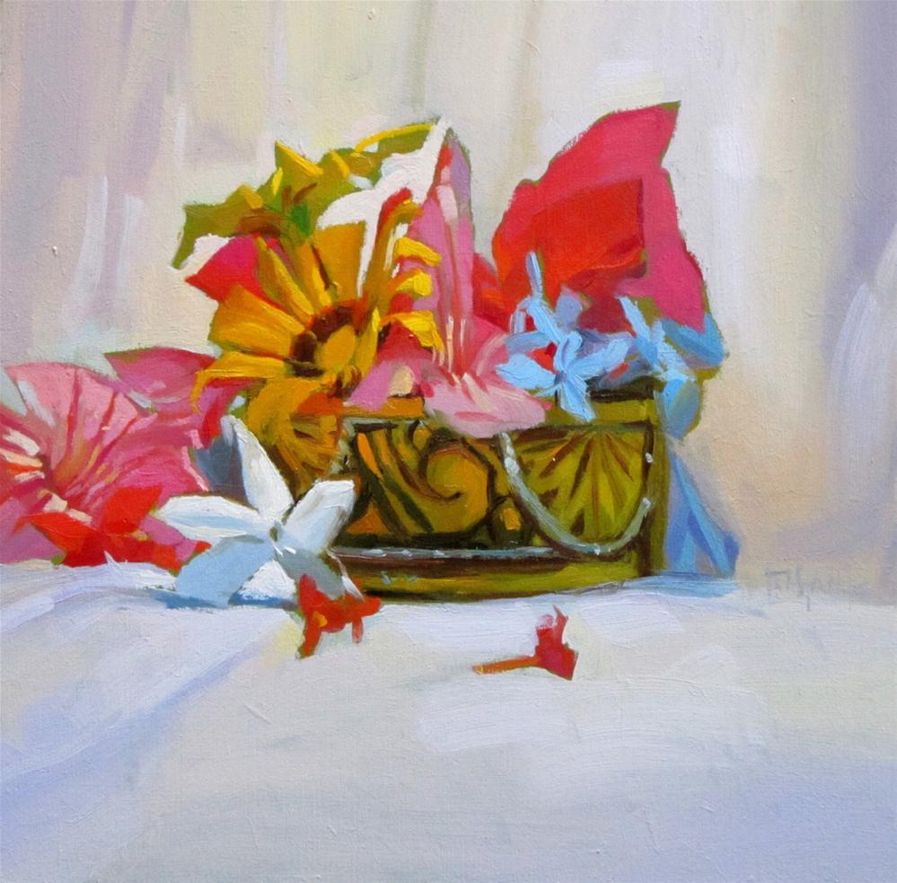 """Box of flowers"" original fine art by Víctor Tristante"