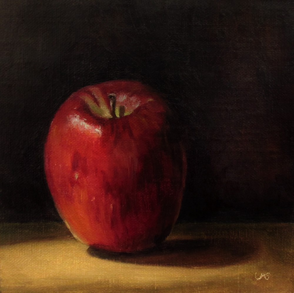 """Red Apple"" original fine art by Ulrike Miesen-Schuermann"