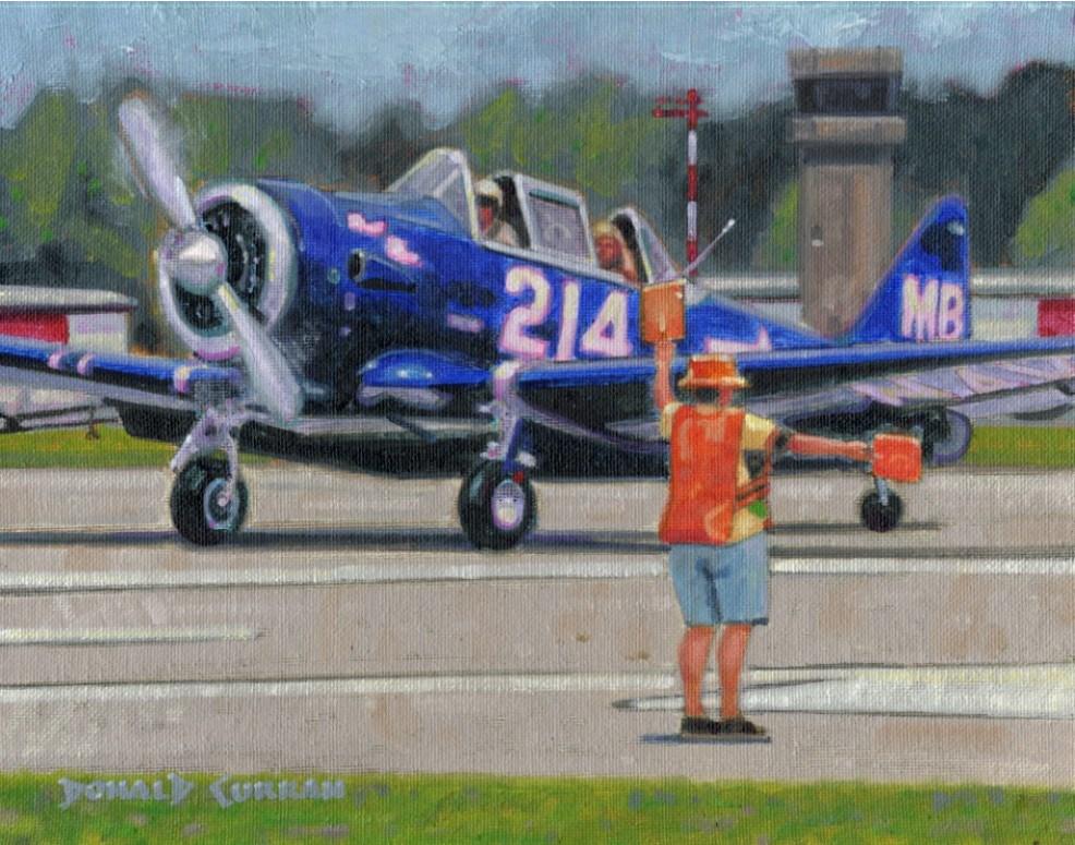 """Airplane"" original fine art by Donald Curran"