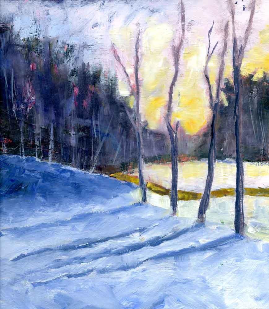 """Winter Trees"" original fine art by Eileen Hennemann"