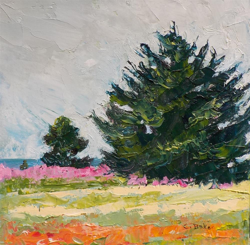 """""""Pine, Spruce and Fireweed"""" original fine art by Carole Baker"""