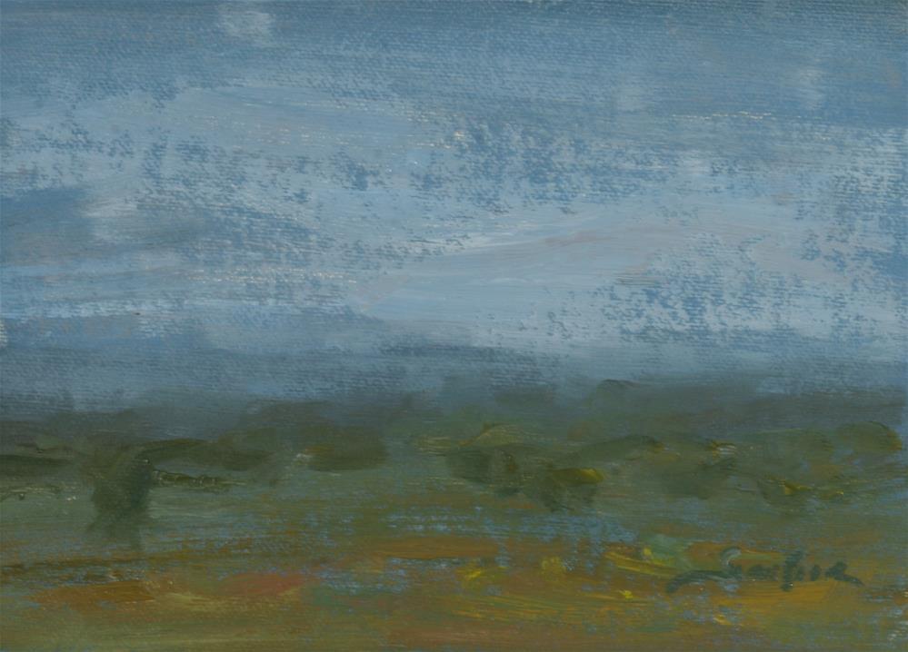 """Distance"" original fine art by Scott Serafica"